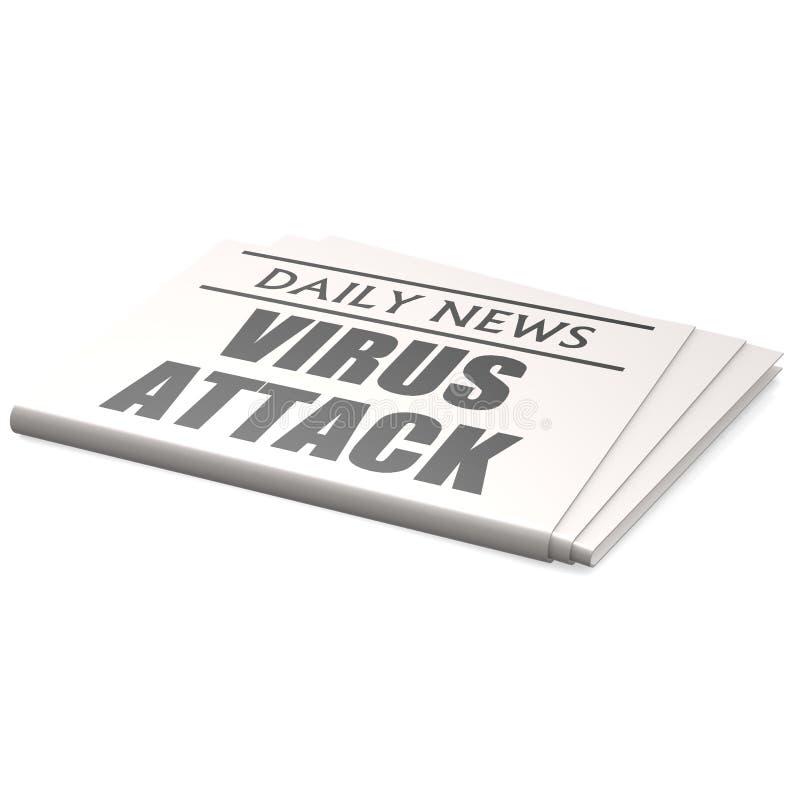 De aanval van het krantenvirus vector illustratie