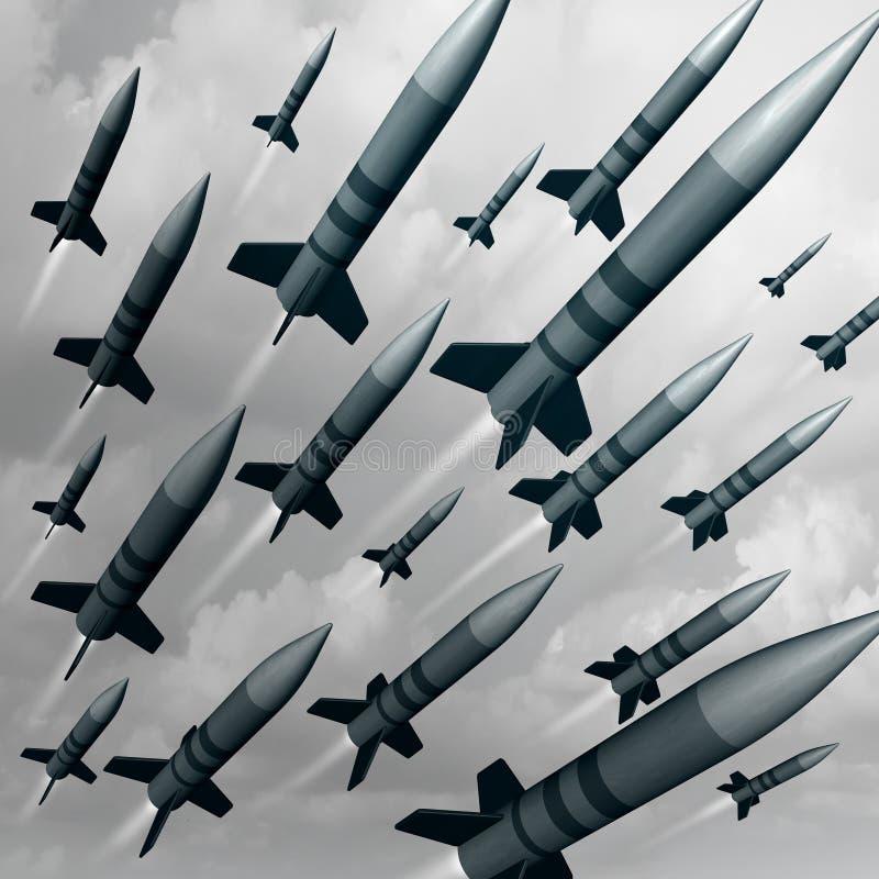 De Aanval van het raketwapen stock illustratie