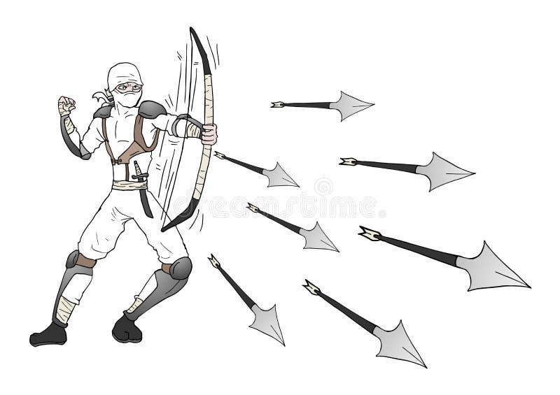 De aanval van Ninja stock illustratie
