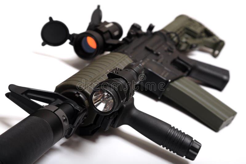 De aanvalsgeweer van de douane M4A1 voor paramilitaire contrac stock foto