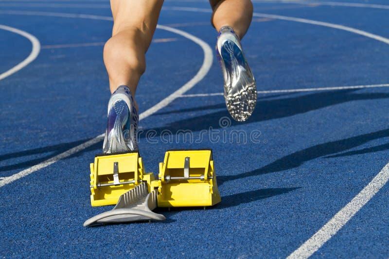 De aanvang van de sprinter stock fotografie