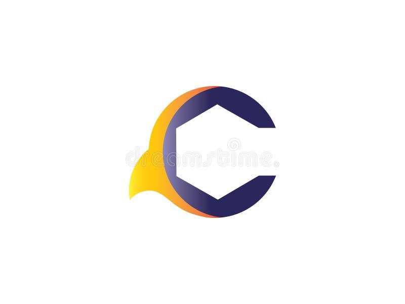 De aanvankelijke Brief C roept het Element van Ontwerplogo vector graphic branding letter uit vector illustratie