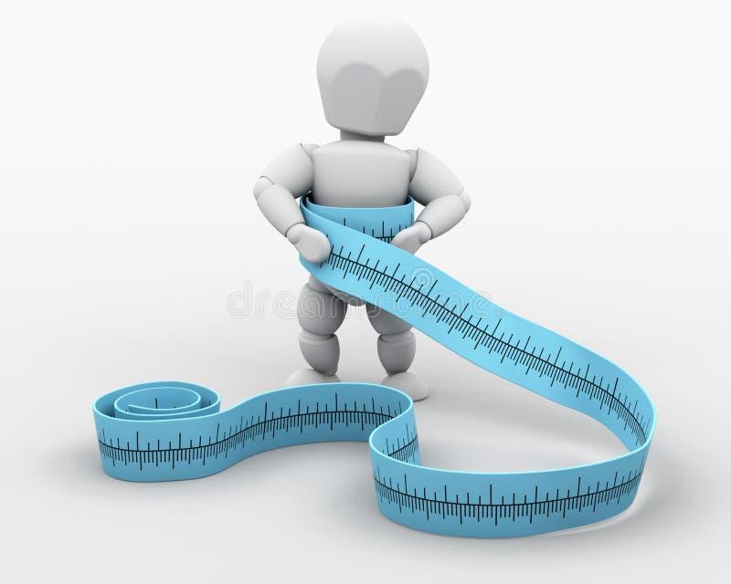 De aanwinst of het verlies van het gewicht? vector illustratie