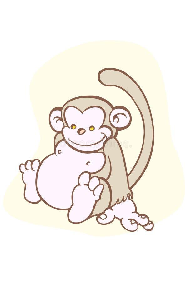 De aap van de baby royalty-vrije illustratie