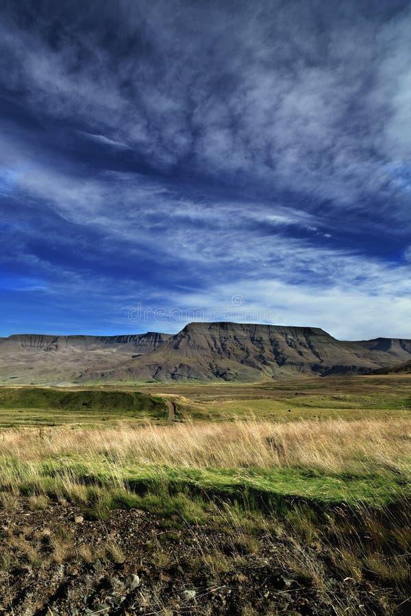 De aard en het landschap van IJsland stock afbeelding