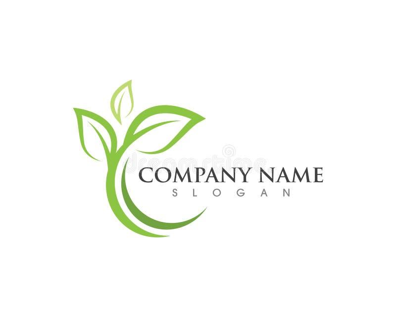De aard Logo Template van de bladecologie vector illustratie