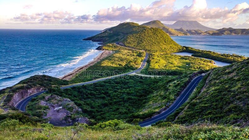 de aard oceaanaardrijkskunde van St. Kitts.and.Nevis stock foto's