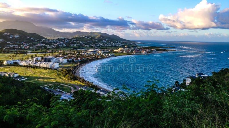 de aard oceaandorp van St. Kitts.and.Nevis royalty-vrije stock afbeeldingen