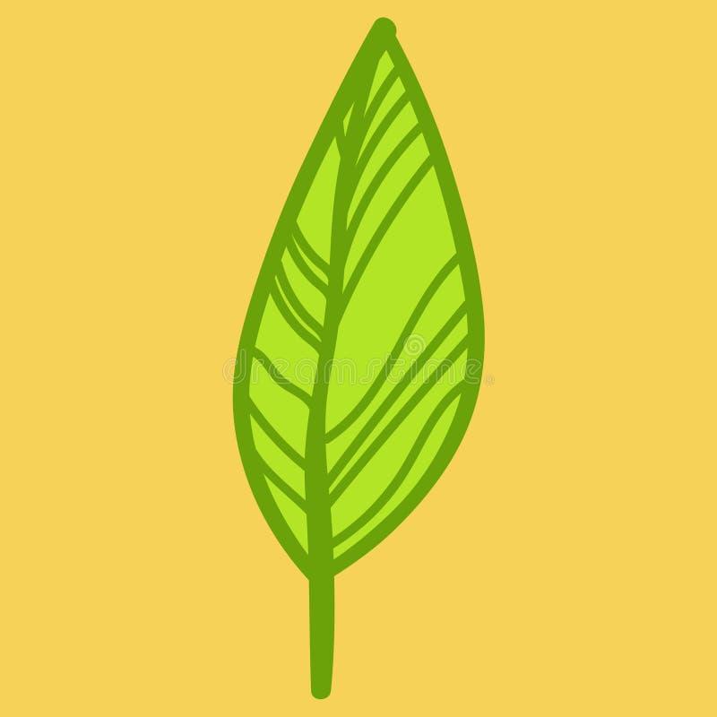 De aard van de bladkrabbel vector illustratie