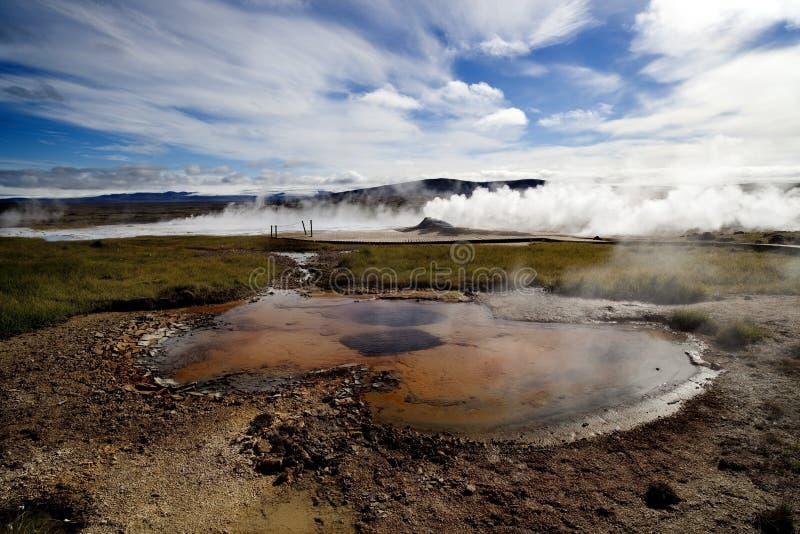 De aard van IJsland en landschappengeiser royalty-vrije stock fotografie