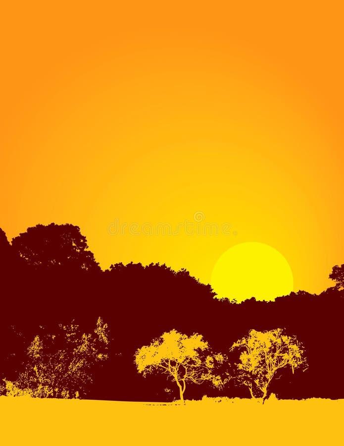 De aardachtergrond van de zonsondergang