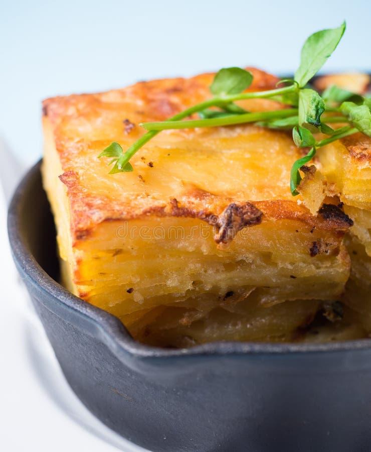 De aardappel bakt pastei Cake stock fotografie