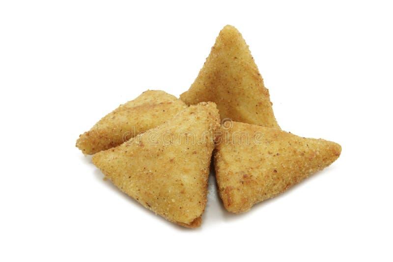 De aardappelcake van de driehoek royalty-vrije stock fotografie