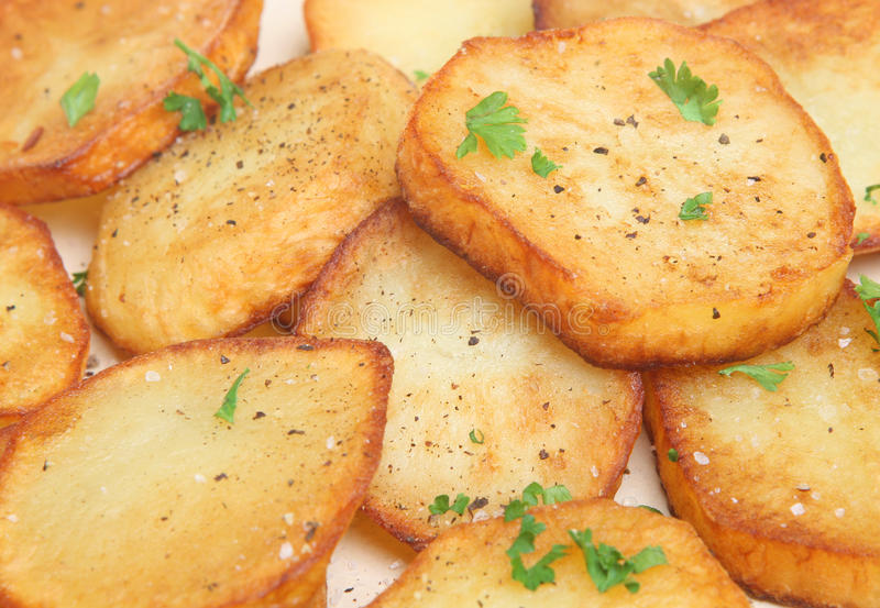 De Aardappels van Sauteed stock fotografie