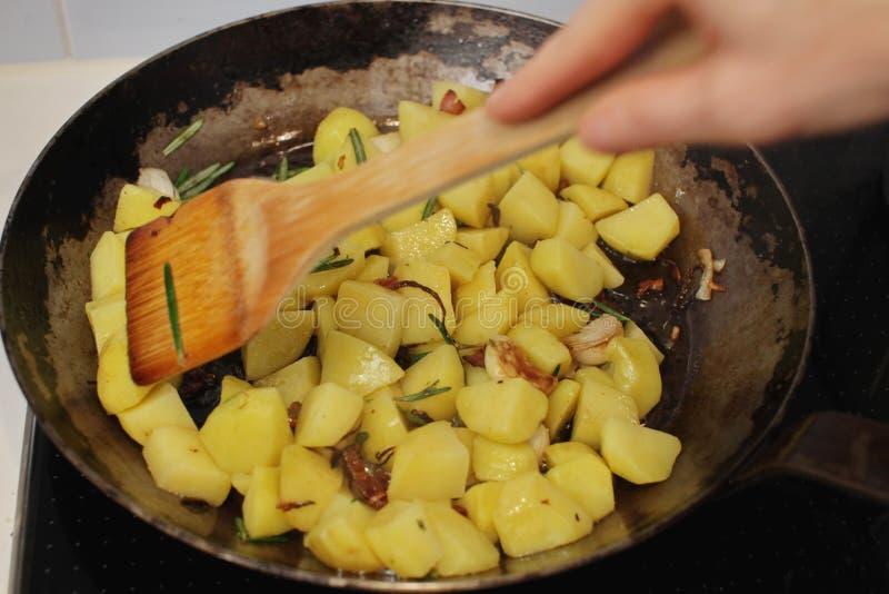 De Aardappels van Sauteed royalty-vrije stock afbeelding