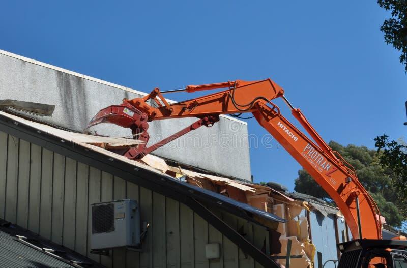 De Aardbeving van Christchurch - de Middelbare school van Meisjes stock afbeelding