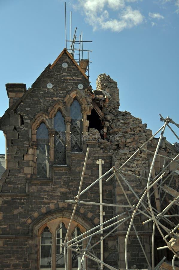De Aardbeving van Christchurch - Provinciaal Canterbury royalty-vrije stock fotografie