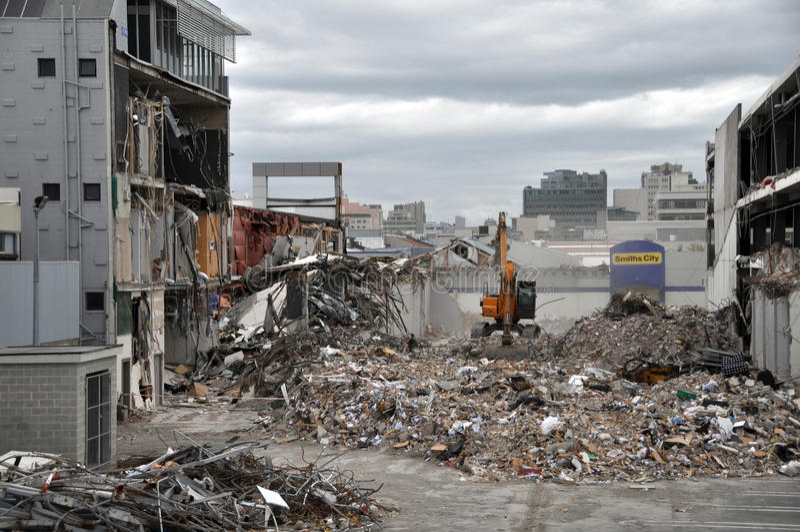De Aardbeving van Christchurch - Zuidelijke Vernietigde CBD royalty-vrije stock fotografie