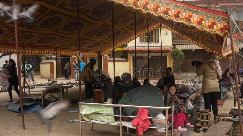 De aardbeving 2015 van Nepal Katmandu stock afbeeldingen