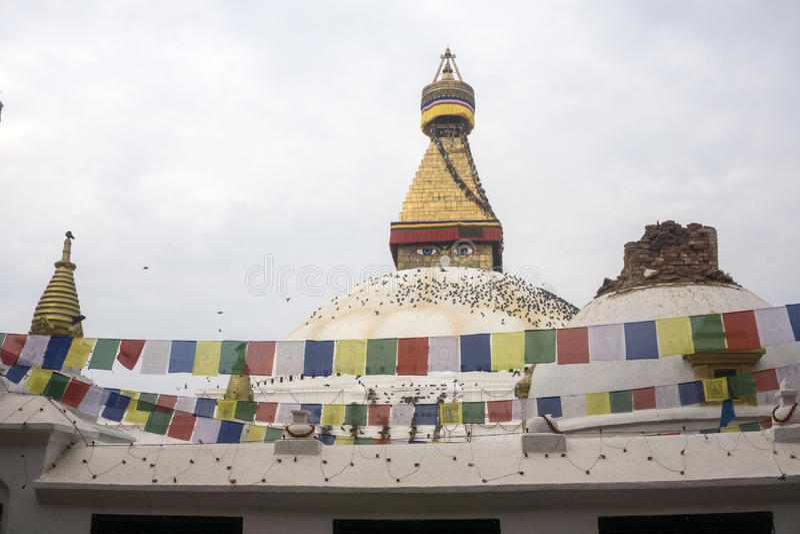 De aardbeving 2015 van Nepal Katmandu stock fotografie