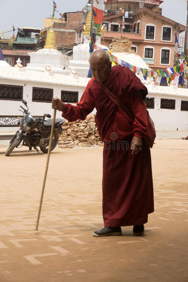 De aardbeving 2015 van Nepal Katmandu royalty-vrije stock foto's