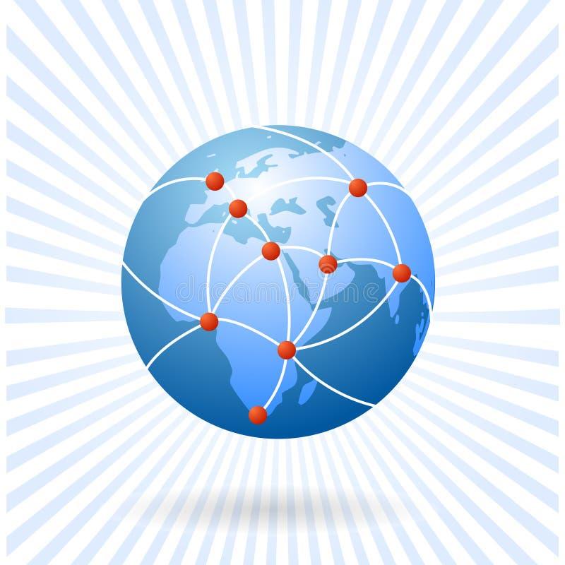 De aarde als mondiaal net vector illustratie