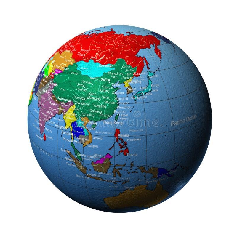 De aarde in China royalty-vrije illustratie