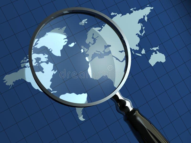 De aarde inspecteert stock illustratie