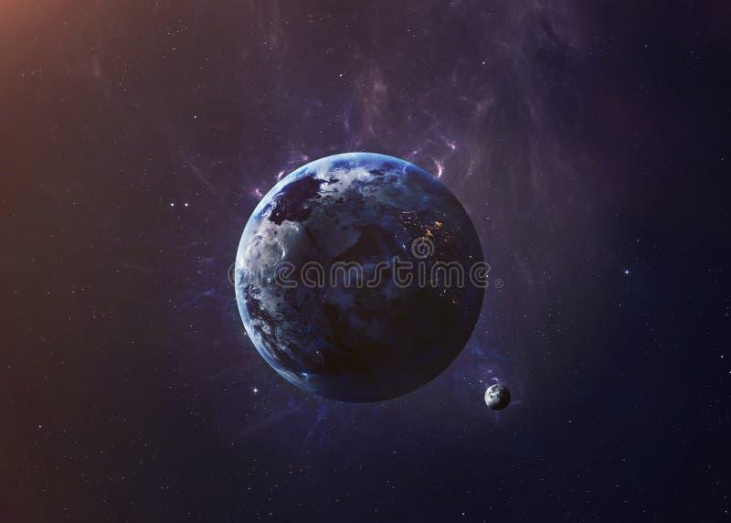 De Aarde schoot van het ruimte alle tonen zij schoonheid stock afbeelding