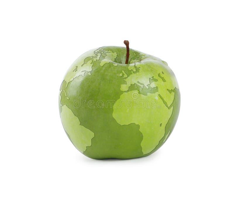 De aarde van de appel stock afbeelding