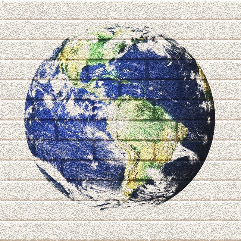 De Aarde van de Bakstenen muur stock illustratie