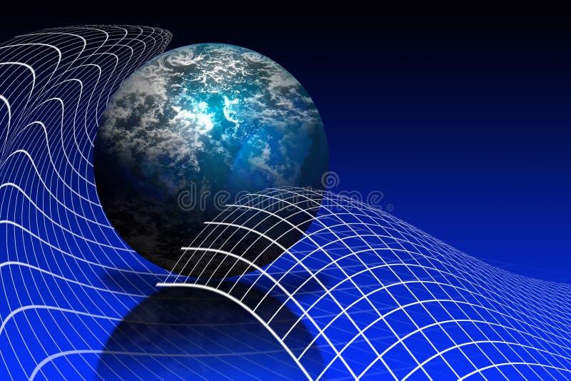 De Aarde van de Bol van de wereld royalty-vrije illustratie