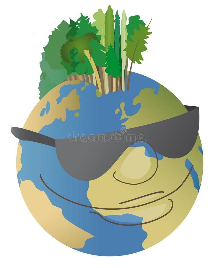De aarde van de hippie royalty-vrije illustratie
