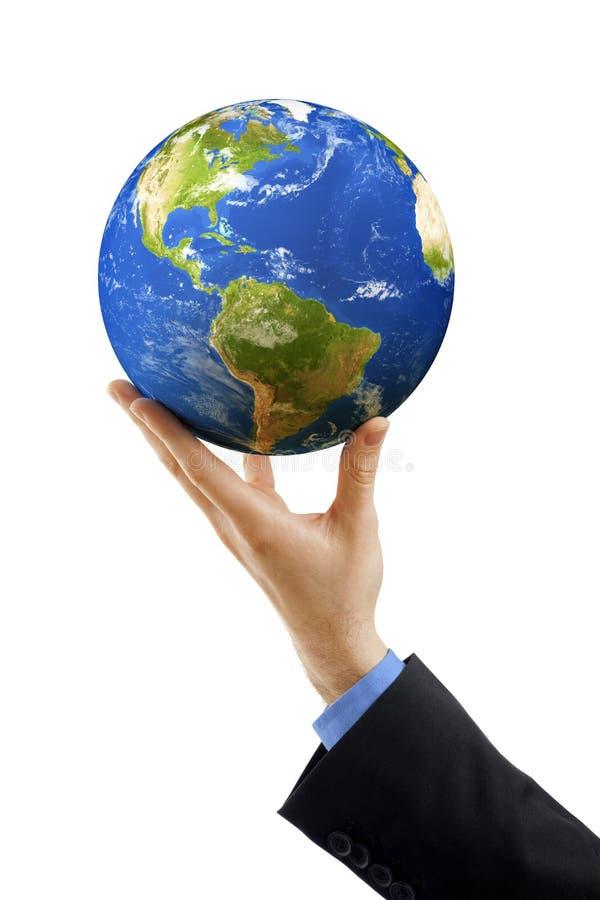 De aarde van de holding royalty-vrije stock afbeelding