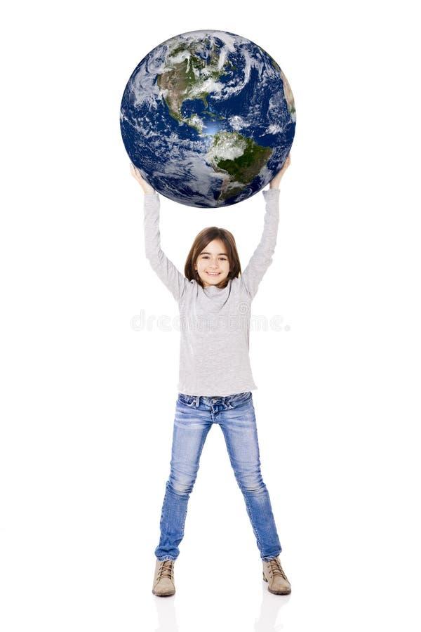 De aarde van de holding stock foto's