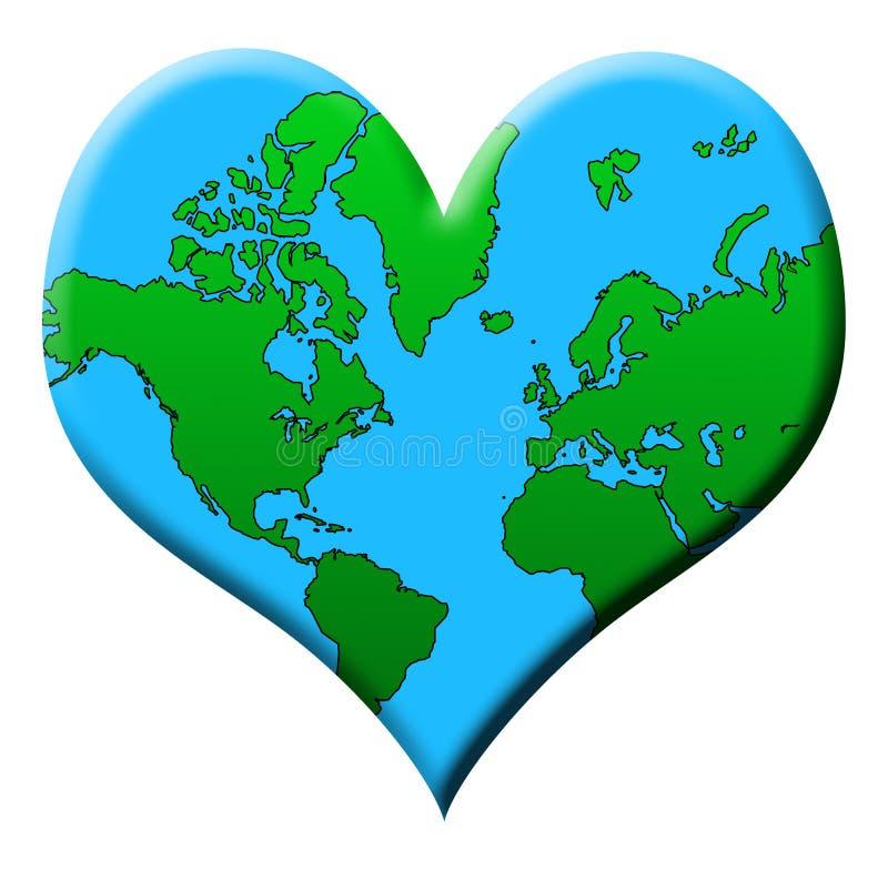 De Aarde van de liefde royalty-vrije illustratie