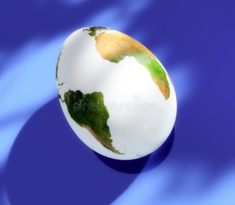 De aarde van het ei royalty-vrije illustratie