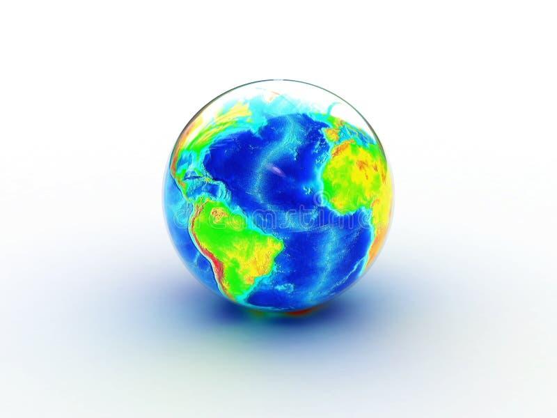De aarde van het glas royalty-vrije illustratie