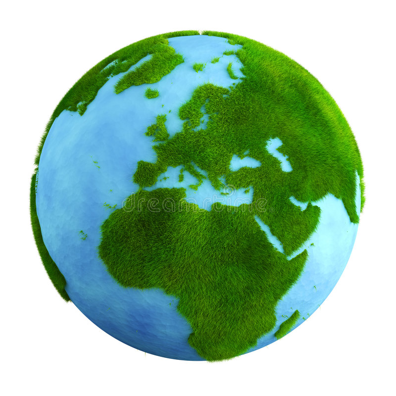 De aarde van het gras - Europa vector illustratie