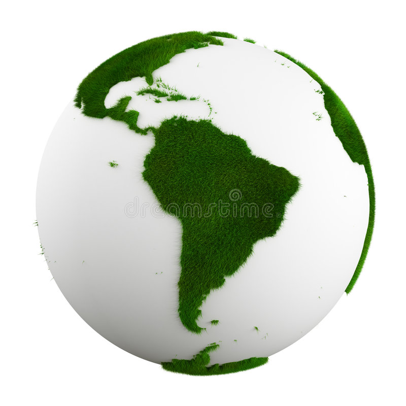 De aarde van het gras - Zuid-Amerika vector illustratie