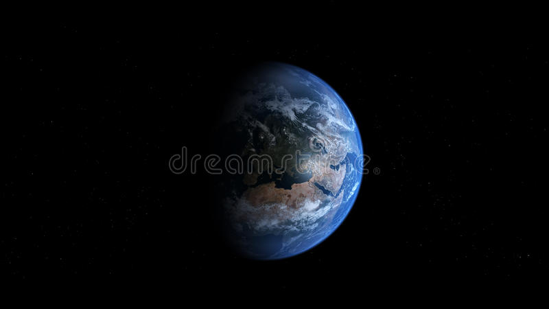 De Aarde van Photoreal - Europa royalty-vrije illustratie
