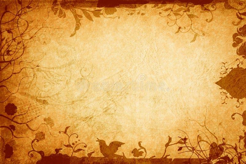De aardpagina van Grunge vector illustratie
