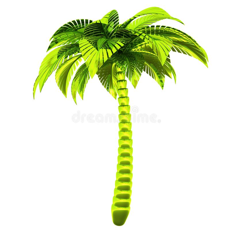 De aardsymbool van de palm groen metaal gestileerd tropisch installatie vector illustratie