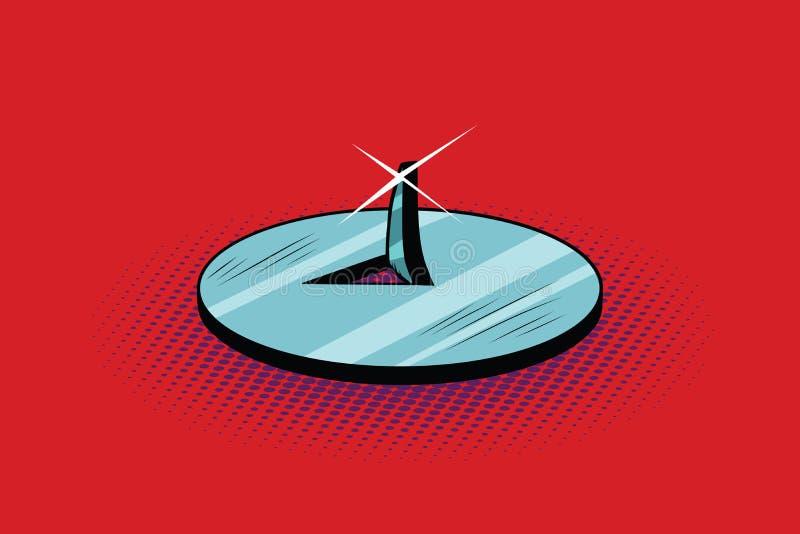 De aarknoop van het punaise scherpe metaal vector illustratie