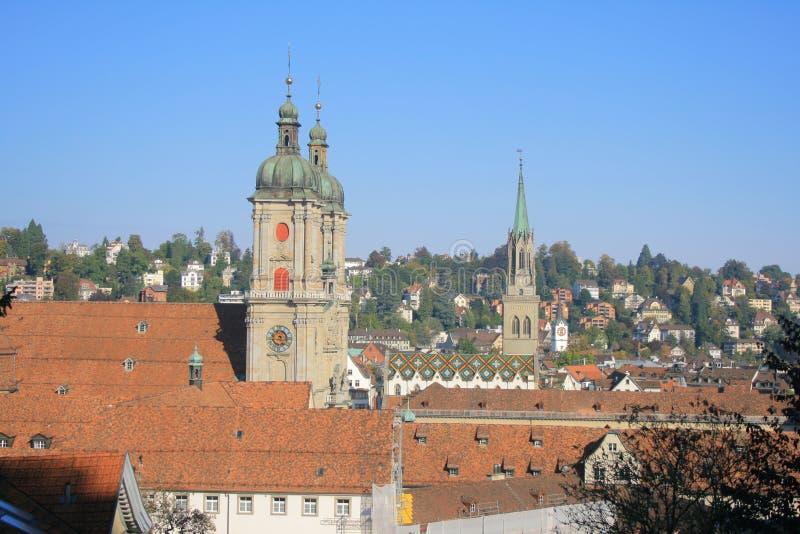 De Abdij en de Kathedraal van Gallen van Sankt royalty-vrije stock afbeelding