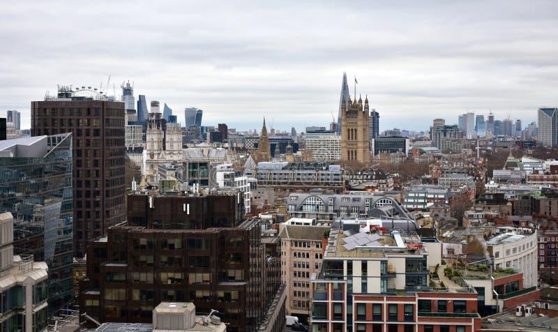 De Abdij en Victoria Tower van Westminster van de Kathedraalvooruitzicht van Westminster Londen, het Verenigd Koninkrijk royalty-vrije stock foto