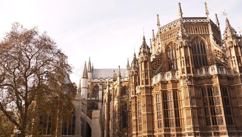 De Abdij Londen, Trefpunt van Westminster voor Koninklijk Huwelijk. stock foto
