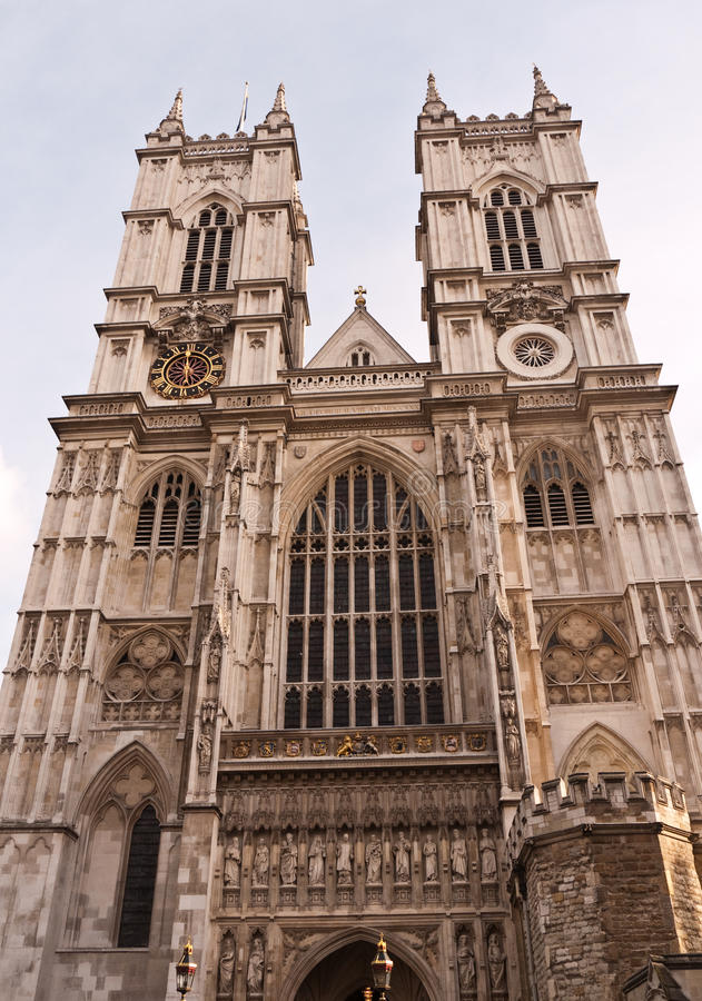 De Abdij Londen, Trefpunt van Westminster voor Koninklijk Huwelijk. stock afbeeldingen