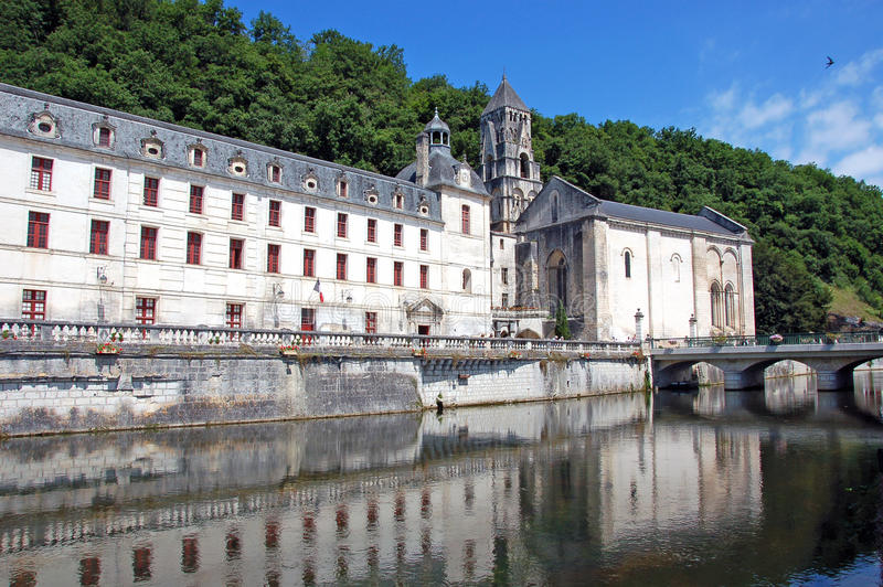 De abdij van Brantome, Frankrijk royalty-vrije stock afbeelding
