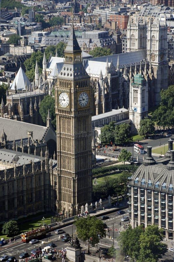 De Abdij van de Big Ben en van Westminster royalty-vrije stock afbeelding